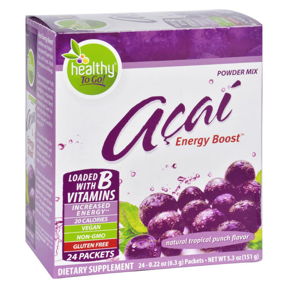 To Go Brands Acai Natural Energy Boost Powder - 24 Packets Pack of 3
