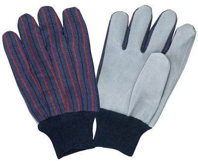 Glove Leather Palm Knit Wrist Pack of 6