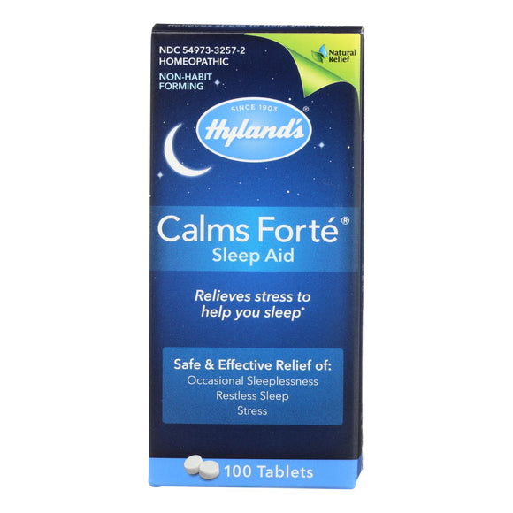 Hylands Homeopathic Calms Fort? - Sleep Aid - 100 Tablets Pack of 3