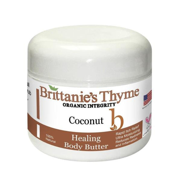 Brittanie's Thyme - Body Butter - Healing Coconut - 2 oz. Pack of 3