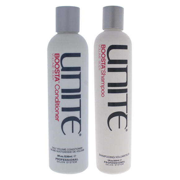 Boosta Shampoo and Conditioner Kit by Unite for Unisex - 2 Pc Kit 10oz Shampoo, 8oz Conditioner Pack of 3