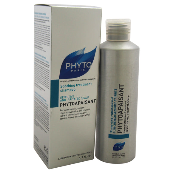 Phytoapaisant Soothing Treatment Shampoo by Phyto for Unisex - 6.7 oz Shampoo Pack of 3