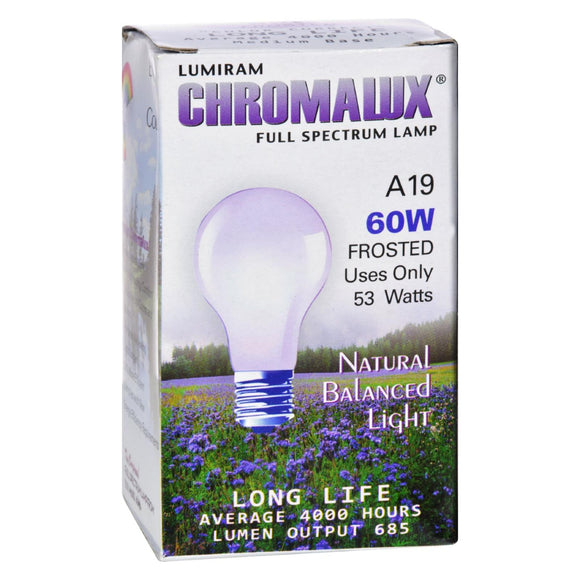 Chromalux Light Bulb Frosted-60W - 1 Bulb Pack of 3