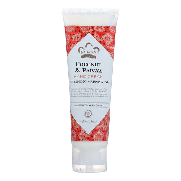 Nubian Heritage Hand Cream - Coconut & Papaya - 4 oz Pack of 3