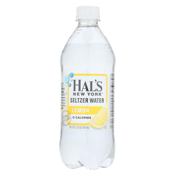 Hal's New York Seltzer - Seltzer Lemon - Case of 24 - 20 FZ