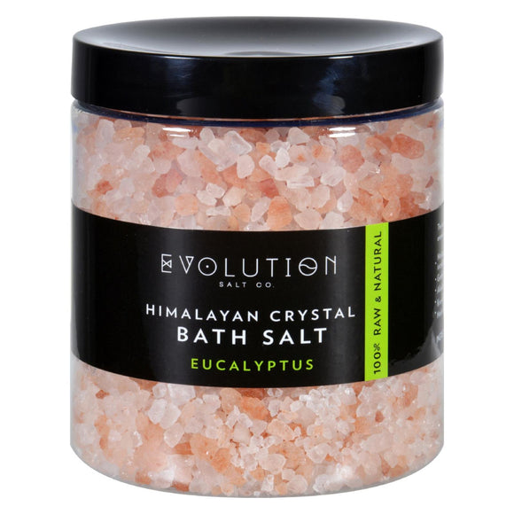 Evolution Salt Bath Salt - Himalayan - Coarse - Eucalyptus - 26 oz Pack of 3