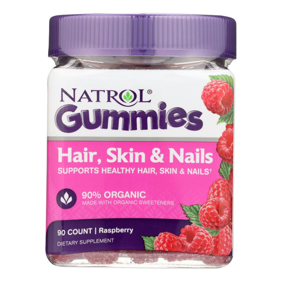 Natrol - Hair Skin Nails Gumms - 1 Each - 90 CT Pack of 3