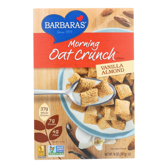 Barbara's Bakery - Morning Oat Crunch Cereal - Vanilla Almond - Case of 6 - 14 oz.