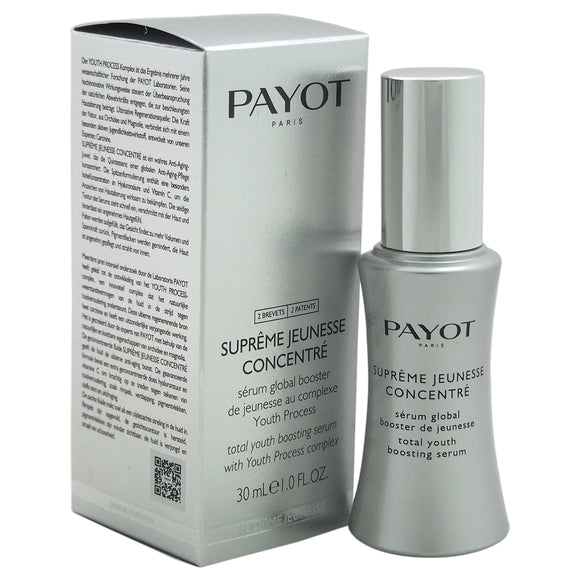 Supreme Jeunesse Concentre Total Youth Boosting Serum by Payot for Women - 1 oz Serum Pack of 3