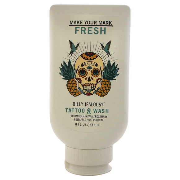 Tattoo Wash by Billy Jealousy for Men - 8 oz Body Wash Pack of 3