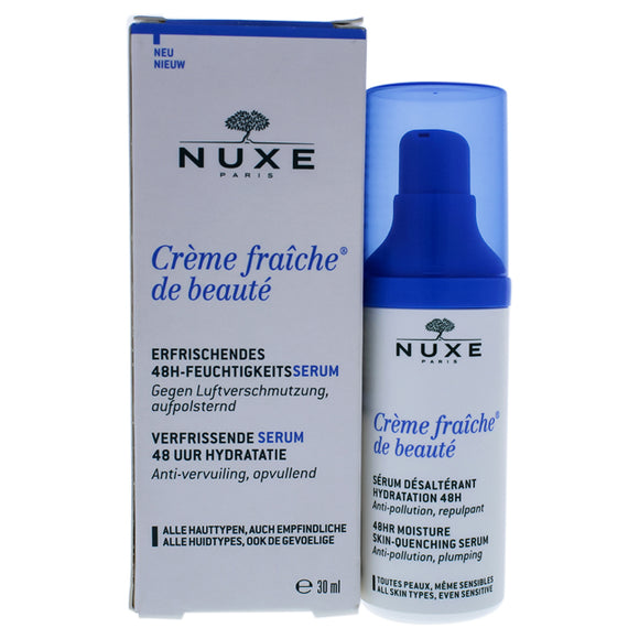 Creme Fraiche de Beaute 48HR Moisture Skin-Quenching Serum by Nuxe for Unisex - 1 oz Serum Pack of 3