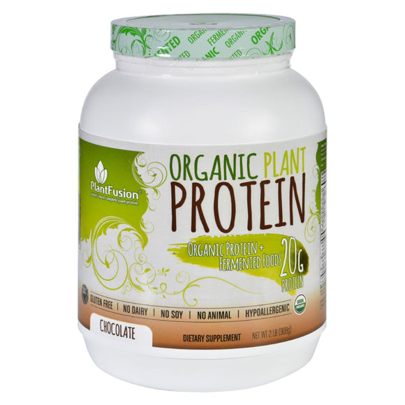 Plantfusion - Organic Plant Protein - Chocolate - 2 lbs. Pack of 3
