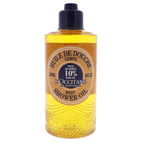 Shea Body Shower Oil by LOccitane for Unisex - 8.4 oz Body Wash Pack of 3