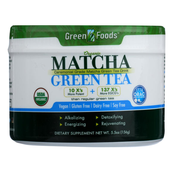 Green Foods Organic Matcha Green Tea - 5.5 oz Pack of 3