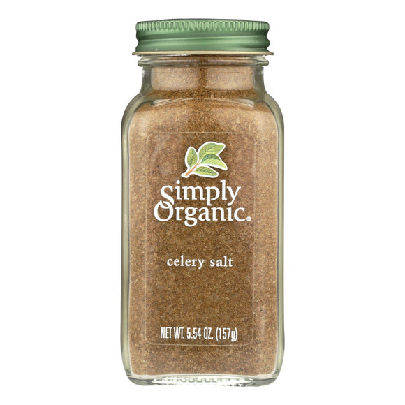 Simply Organic Celery Salt - Organic - 5.54 oz Pack of 3