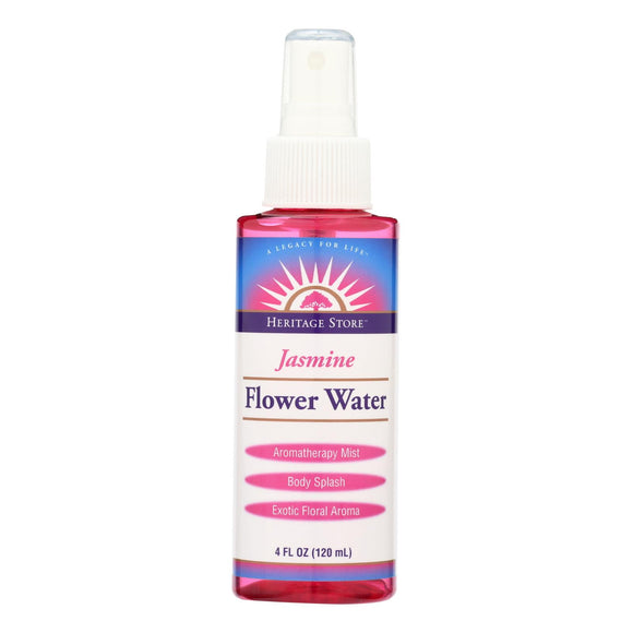 Heritage Products Flower Water Jasmine - 4 fl oz Pack of 3