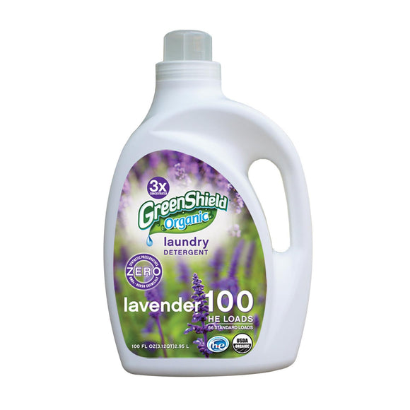 Green Shield Organic Laundry Detergent - Lavender - Case of 2 - 100 Fl oz.