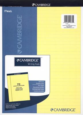 Camb Stiff Yel Legal Back Pd Pack of 3