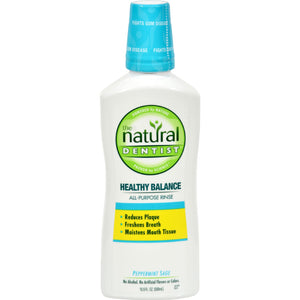 The Natural Dentist Healthy Balance All-Purpose Mouth Rinse Peppermint Sage, 16.9 Oz