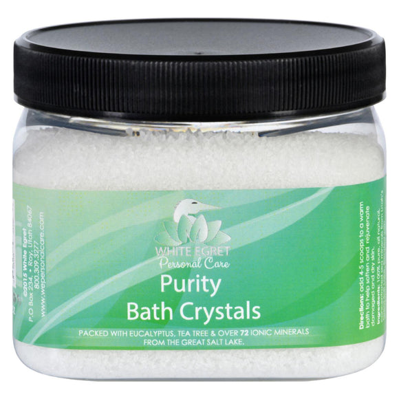 White Egret Bath Crystals - Purity - 16 oz Pack of 3