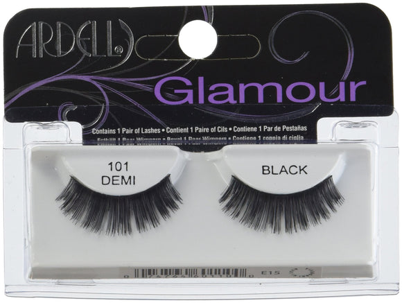 Ardell Glamour Lash #101 Blk 1Pr Pack of 4