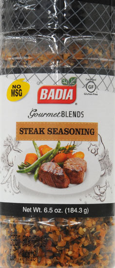 Badia Spices - Seasoning - Steak - Case of 6 - 6.5 oz.