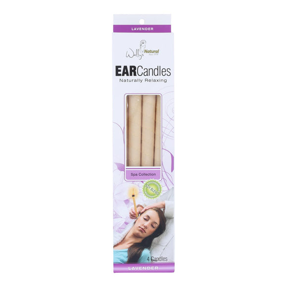 Wally's Ear Candles Lavender Paraffin - 4 Candles Pack of 3