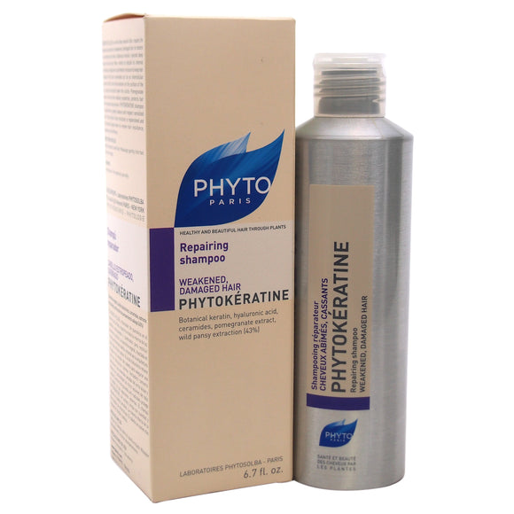 Phytokeratine Reparative Shampoo by Phyto for Unisex - 6.7 oz Shampoo Pack of 3