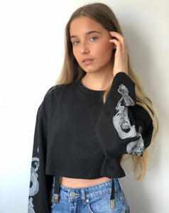 Dragon Sleeves Long Crop Top