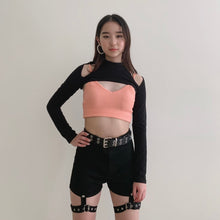 Load image into Gallery viewer, Black Detachable High Waisted Shorts