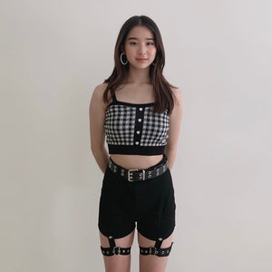 Black Detachable High Waisted Shorts