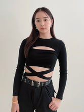 Load image into Gallery viewer, Criss-Cross Bandage Long Crop Top SSTEAL EXPRESS