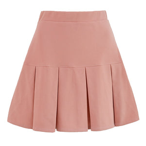 Preppy Plain Pleated Skirts (5 Colours)