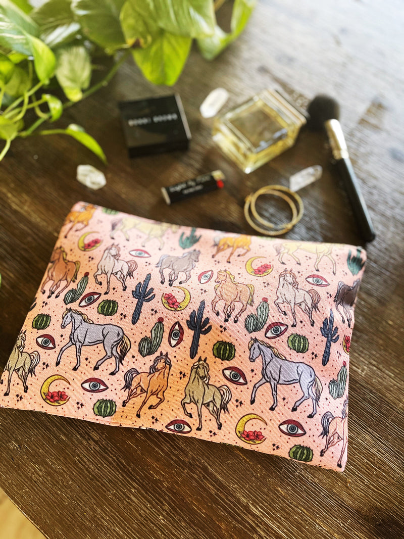 WILD HORSES // COSMETIC ZIP POUCH
