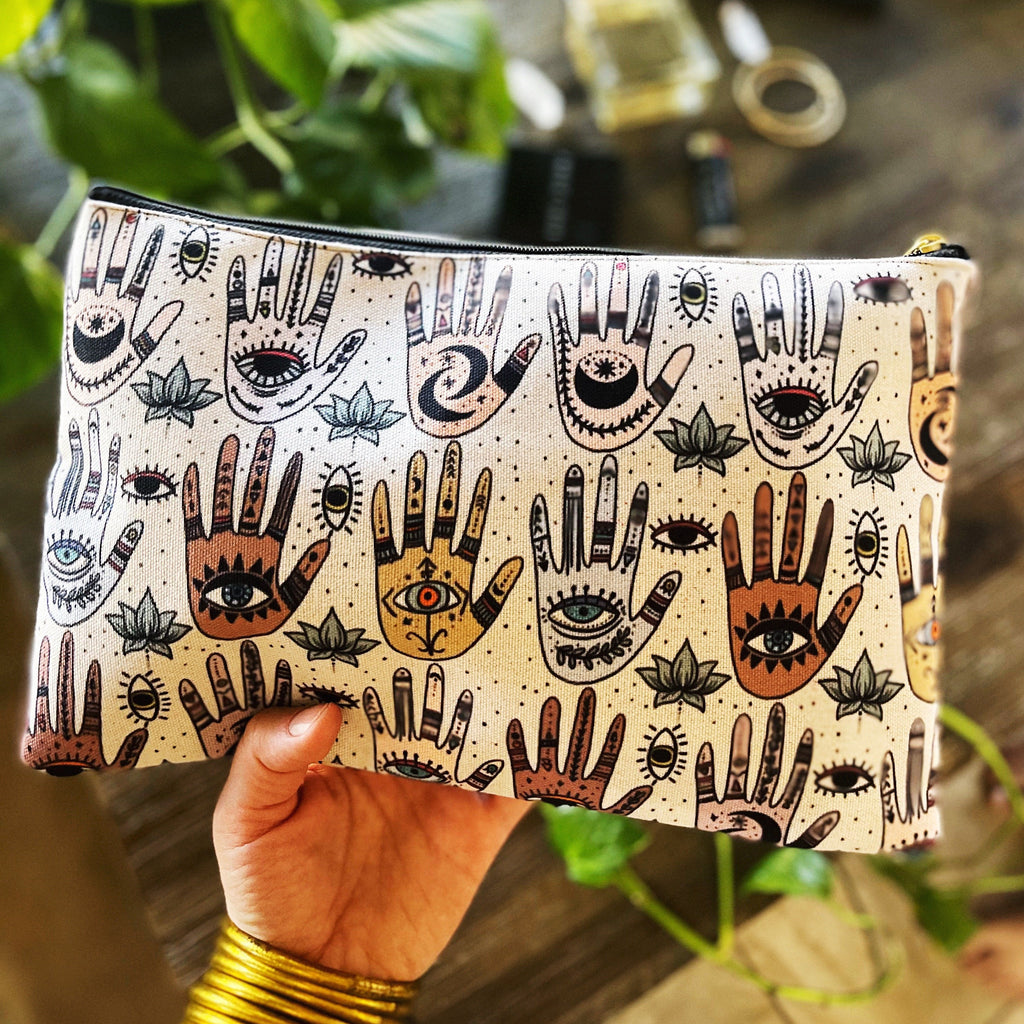 HELPING HANDS // COSMETIC ZIP POUCH
