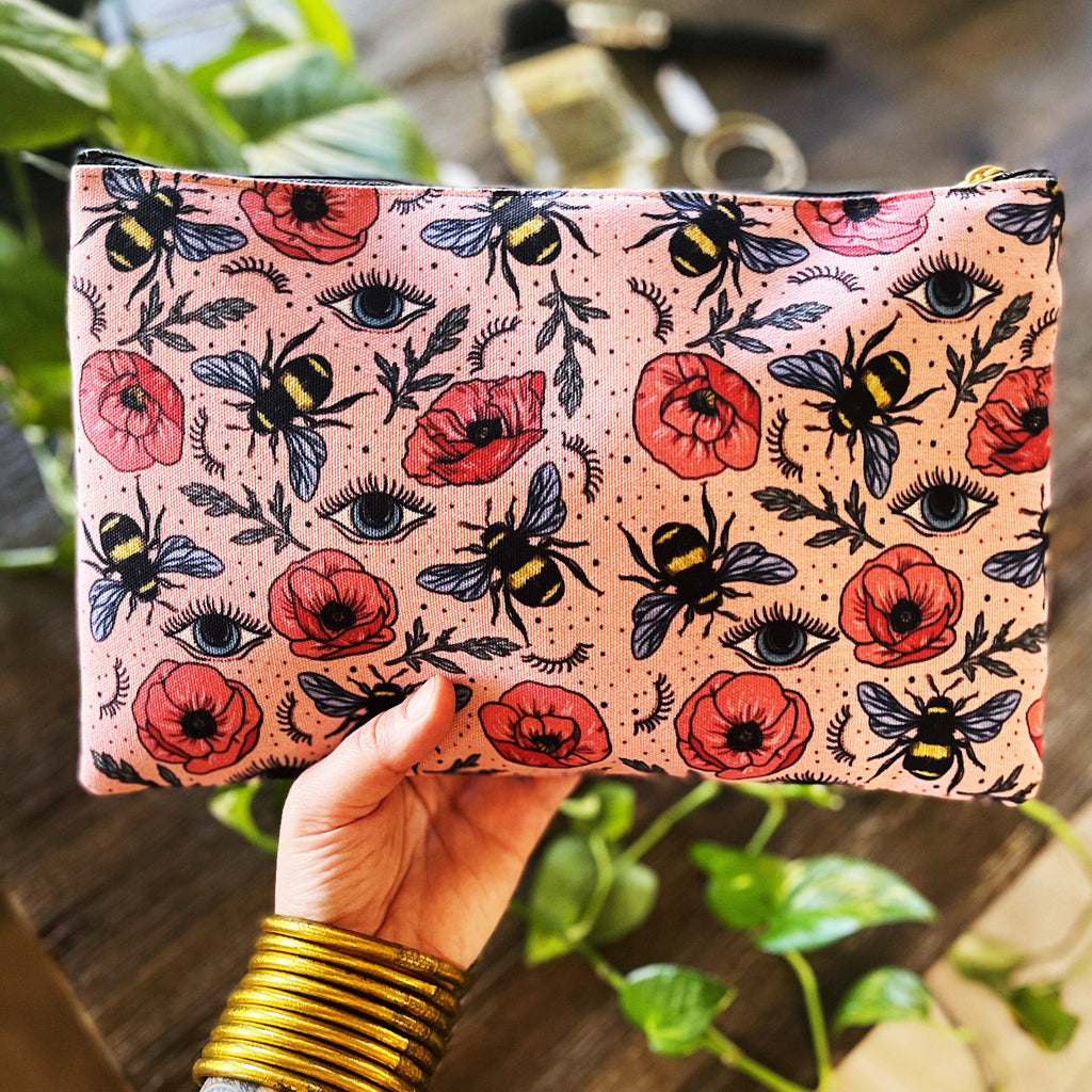 BEE'S KNEES // COSMETIC ZIP POUCH