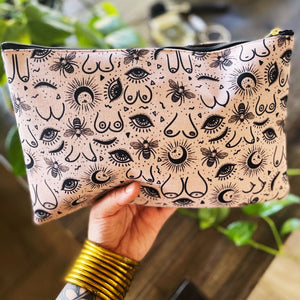 BOOB BEES // COSMETIC ZIP POUCH