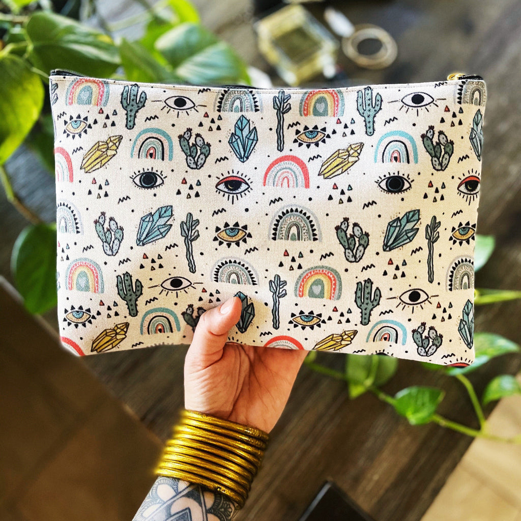 I'LL SEE YOU ON THE OTHER SIDE // COSMETIC ZIP POUCH