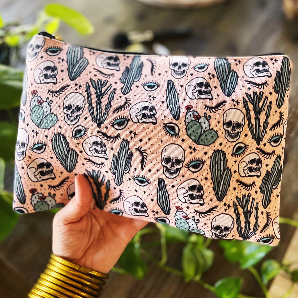 NO BONES ABOUT IT // COSMETIC ZIP POUCH