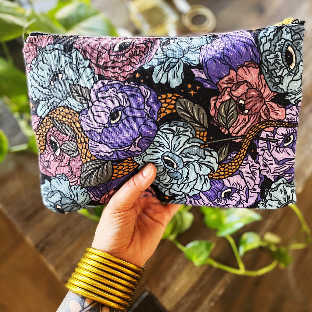GOTHIC FLORAL // COSMETIC ZIP POUCH