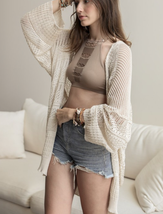 << THE BOHEMIAN >> LIGHTWEIGHT KNIT CARDIGAN (4 COLORS)