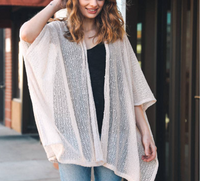 << FAIRY CHILD >> LIGHTWEIGHT BOUCLE KIMONO CARDIGAN (4 COLORS)