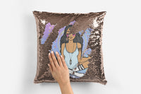 << MANIFEST COOL ASS SHIT >> ROSE GOLD FLIP SEQUIN PILLOW CASE COVER