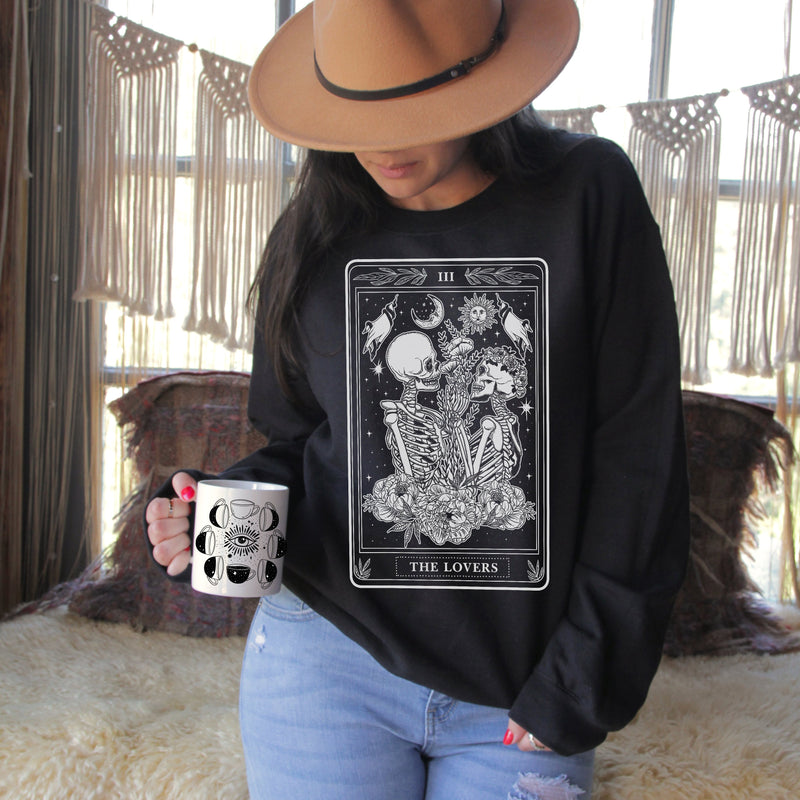 « THE LOVERS TAROT » UNISEX PULLOVER