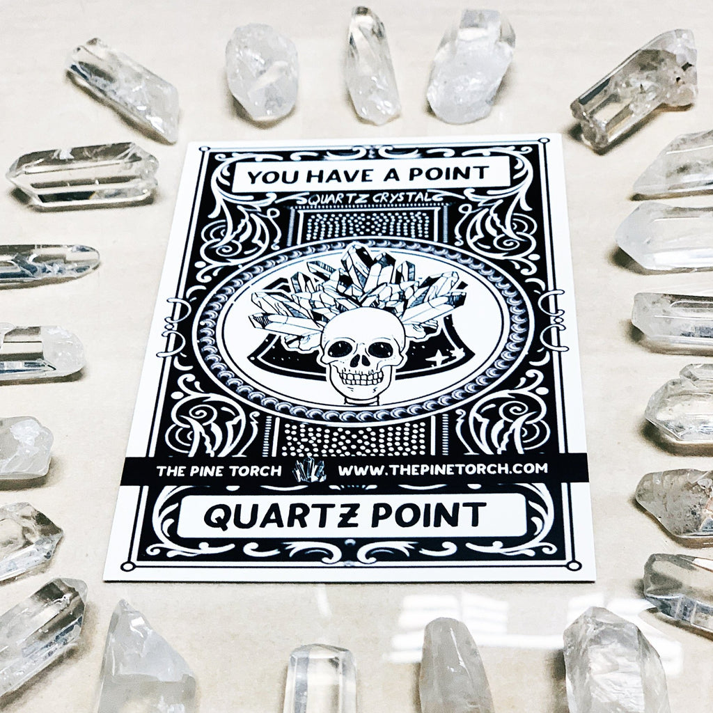 << YOU HAVE A POINT >>  CLEAR QUARTZ POINT