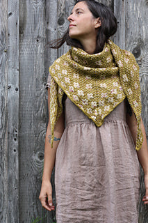 Pressed Flowers Shawl Kit