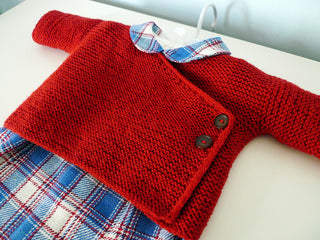 Garter Stitch Baby Cardigan Kit