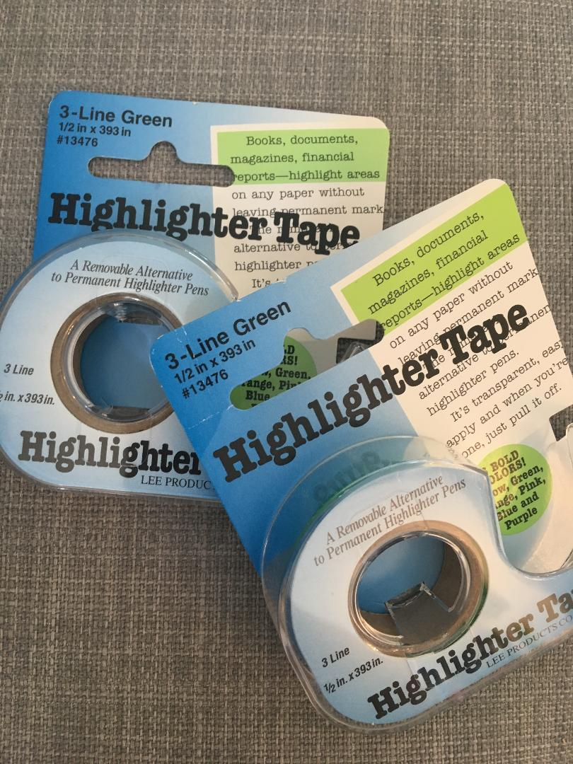 Highlighter Tape 1/2 inches