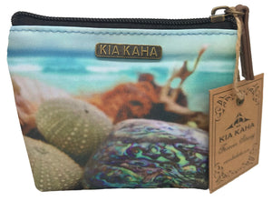 coin purse with New Zealand beach scene print