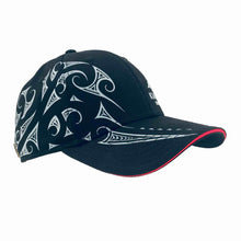 Load image into Gallery viewer, Black kia-kaha baseball cap with Maori design. Kia Kaha New Zealand